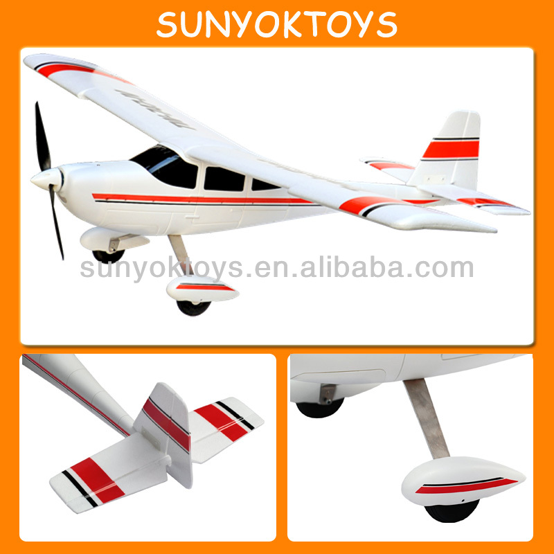 RC Volantex Alloy Gear 4CH Trainstar Cessna Brushless Airplane Rtf. Remote Control Plane