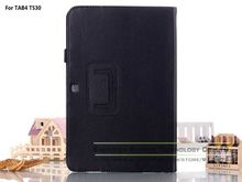 Magnetic PU Leather Folio Folding Stand Tablets & e-Books Cases Cover for Samsung Galaxy Tab 4 10.1 T530 with Stylus Holder