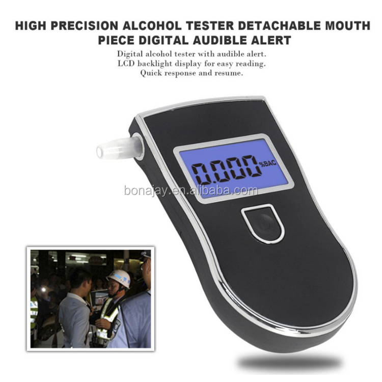 Professional Alcohol Tester Police LCD Display Digital Breath Quick Response Breathalyzer for the Drunk Drivers alcotester