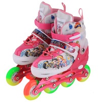 2016 hot sale Roller Derby Girl's /kids Adjustable Roller Skate, Pink/red/bule