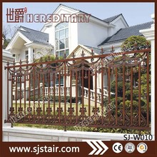 Exterior powder coated bronze decorative die casting aluminum fence post for garden fencing system