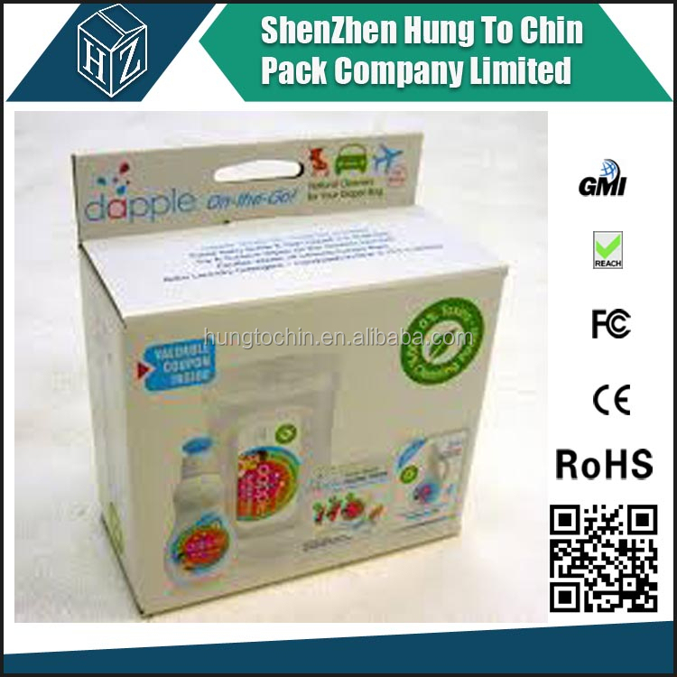 Manufacture hanging cardboard product packaging paper box