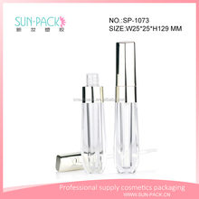 custom unique shiny empty cosmetic packaging lip gloss containers matte lip gloss tube