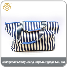 Wholesale Striped Canvas Cloth Grocery Tote Bags