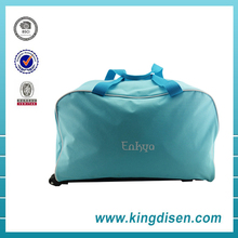 China manufacturer 600D polyester fashion sport trolley travel bag