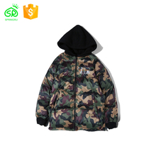 2018 Wholesale Winter Camo Printing Down Jacket With Hood