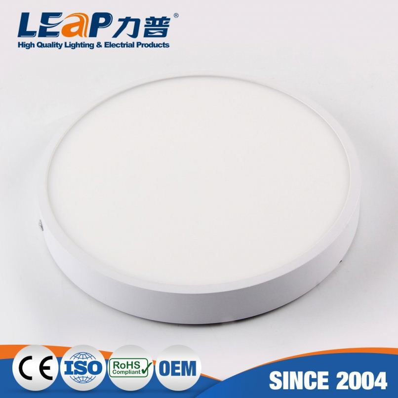 Surface mounted installation 12w 18w 24w ceiling lamp led round panel lights