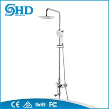 Latest design hot selling single handle casted brass rain shower set