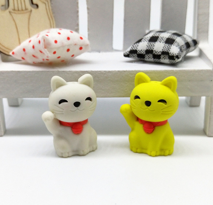 3D cute cat eraser