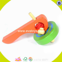 wholesale high quality children wooden toy gyro cheap baby wooden toy gyro W01B018