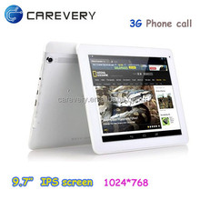 9.7 inch quad core tablet build in 3G GSM, wholesale 9.7 inch android 4.4 tablet support making phone call