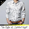 2015 hot-selling high quality long sleeve 95 cotton /5 elastane printed fancy design men shirt