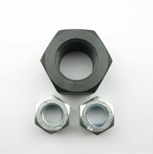 Black ASTM A194 Gr 2H heavy hex nut