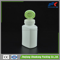 Wholesale Manufacturers Supply Easy To Handle 150ml Square HDPE Plastic Pill Bottle With Flip Top Cap