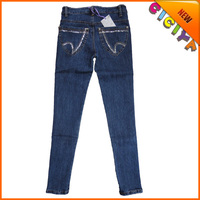 2015 Wholesale plus size monkey designed women's high waisted skinny stretch d jeans