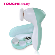 TOUCHBeauty Amazon Hot Sale Portable & Effective Electric Rotating Facial cleansing brush heads replacement