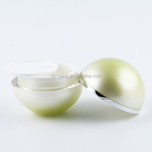 round shiny acrylic cosmetic cream jar for personal care 5g 100g plastic container
