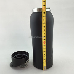New Bike Bicycle 750ml Sports Stainless Steel Water Bottle Black