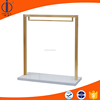 Rose golden metal clothing rack, heavy duty clothing display stand, display for shop