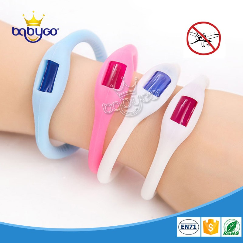 Free sample 100% natural adjustable anti mosquito wrist band with EN71