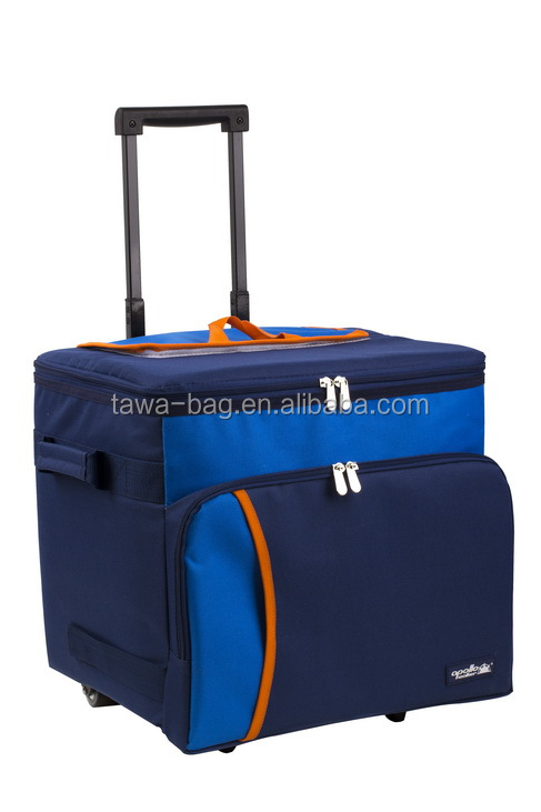 outdoor travel portable cooler bag on wheels