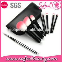 Sofeel 9pcs mini best travel makeup brushes with bag
