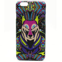 Fox Pattern Luminous Case Glow In The Dark Hard PC Back Cover Case for iPhone 6 plus