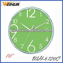 Round plastic promotional clock wholesale