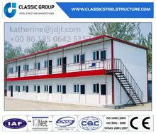 2 Floor Steel Structure Building Prefab House for Temporary Working Office