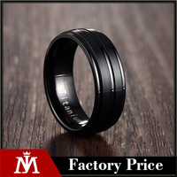 8mm Black Men Ring 100% Titanium Carbide Men's Jewelry Wedding Bands Classic Boyfriend Gift
