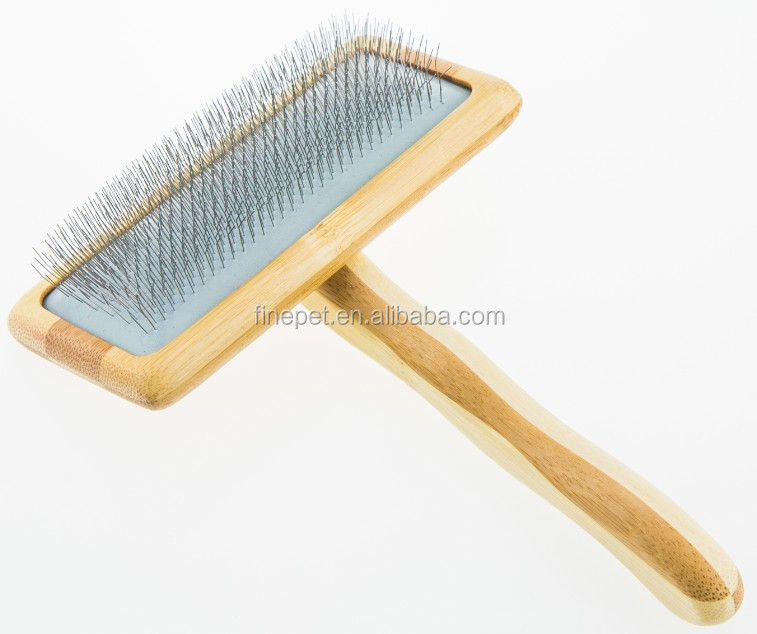 Bamboo pet Hair Brush with Humanized handle