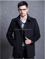 Manufacturers selling lapel pure color of new fund of 2015 autumn winters is han edition tide male cashmere trench coat on sale