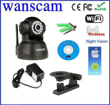 Indoor wifi wireless Pan Tilt Dual Audio P2P Camera IP Wanscam software