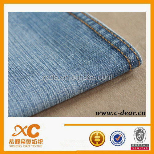 Good quality bleach acid wash denim jeans fabric factory
