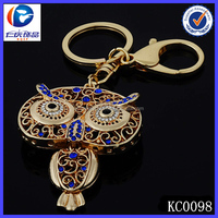100% quality guarantee custom metal night owl keychain wholesale with no minimum quantity