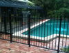 accordion fence/ pool fence