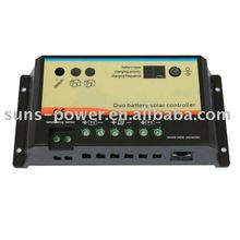 Duo Battery Solar Controller / solar regulator / solar charge controller 10A 12/24V Charge 2 Battery(bank)