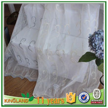 Decorative Bead Door Fashion Wood Curtain embroidery sheer curtain