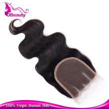 Wholesale hotsale quick shipping tangle free human hair lace closure