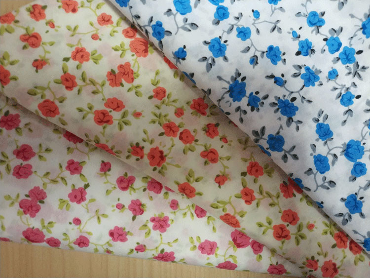 150gsm custom design  cotton woven fabric for garment, shirt, baby clothes