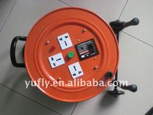 UK standard with 4 sockets electric extension cable reel