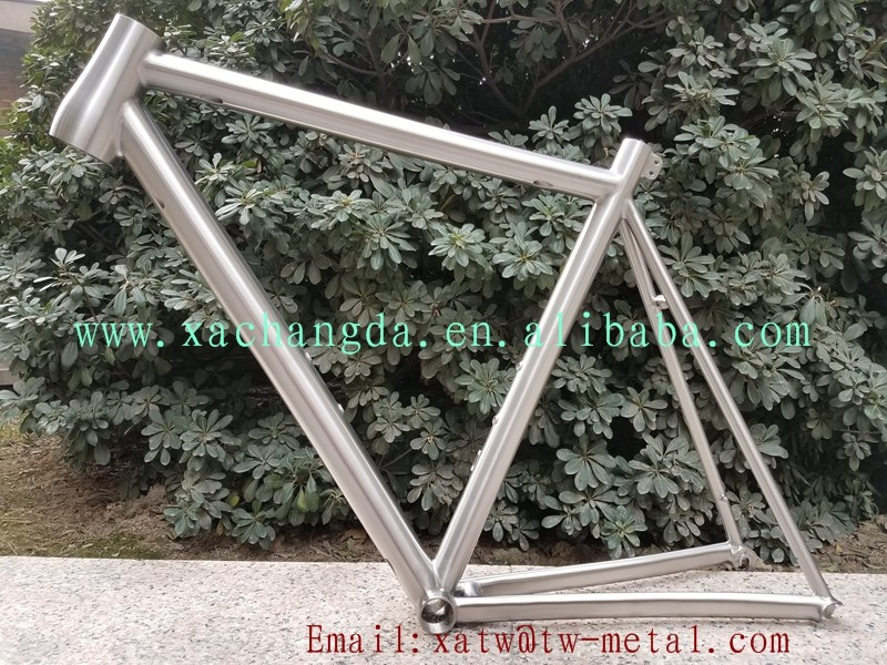 Titanium road bike frame taper head tube Titanium road bike frame with Inner line routing Ti road bicycle frame weldless