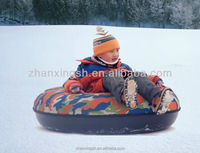 Hot Sell Hard Bottom Winter Sports Air Inflatable Snow Tube Sled