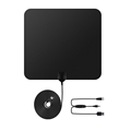 hdtv antenna 50 miles range with detachable amplifier signal booster