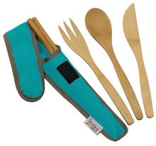 Bamboo Travel Utensils - To-Go Ware Utensil Set with Carrying Case