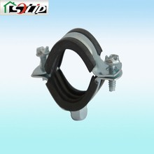 Thickness1.5mm 20mm-166mm(1/2inch-6inch) rubber steel galvanized Natural gas pipeline pipe clamp