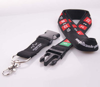 2014 new product custom promotional woven camouflage color lanyard