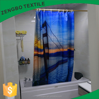 online shop full panel screen printed shower curtain in home