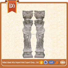 Marble carving wedding flowers and pillars