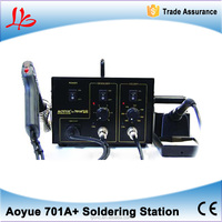 AOYUE 701A+ 2 in 1 BGA Desoldering Station Electric Vacuum Desoldering Pump Solder Sucker Gun +Soldering Station